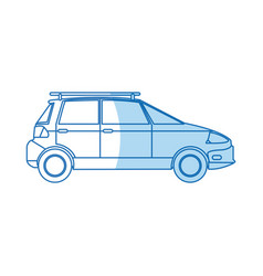 Ecology car transport environment design vector