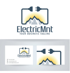 Electric mountain logo design vector