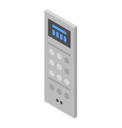 Elevator digital panel icon isometric style vector