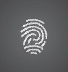 fingerprint sketch logo doodle icon vector image