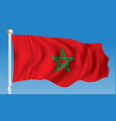 Flag of morocco vector