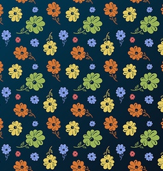 Flower pattern Vintage seamless background vector