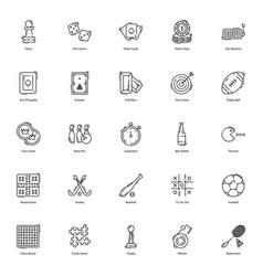 Gambling games flat icons pack vector