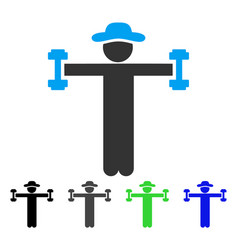 Gentleman fitness flat icon vector