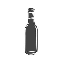 glass drink bottle vector image