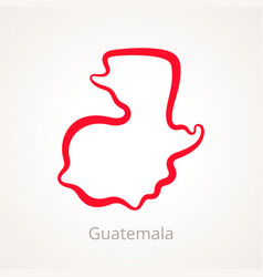 Guatemala - outline map vector