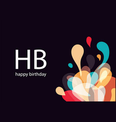 Happy birthday card amorphous abstract vector