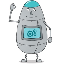 Happy fat robot vector