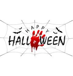 Happy halloween card black scary design isolated vector