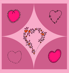 Hearts different shapes vector