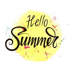 hello summer bright vector image