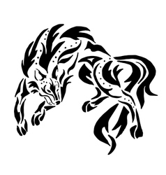 High quality wolf tattoo vector