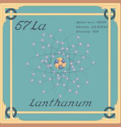 Lanthanum colorful icon vector