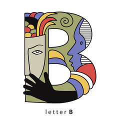 letter b with masks vector image