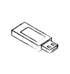 Line data usb memory to save documents vector