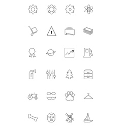 Line icons 12 vector