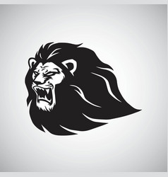 lion roar logo mascot design template vector image