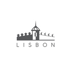 lisbon portugal building landmark design template vector image