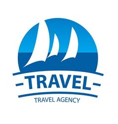 Logo sailing yachts at sea vector