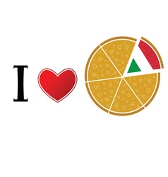 love pizza on white vector image