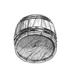 lying retro drawn wooden beer keg barrel vector image