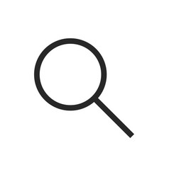 magnifier glass icon vector image