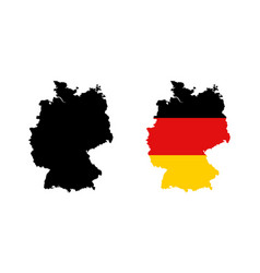 map germany in black and color national flag vector image