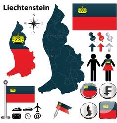 Map liechtenstein vector