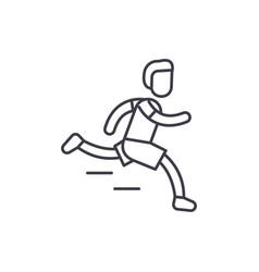 marathon line icon concept marathon linear vector image