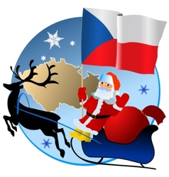 Merry Christmas Czech Republic vector image