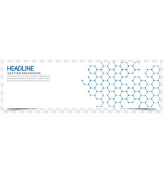 modern blue honeycomb white background headline ve vector image