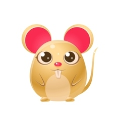 Mouse Baby Animal In Girly Sweet Style vector