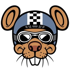 Mouse head rider mascot vector