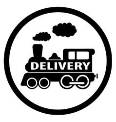moving train icon - delivery symbol vector image vector image