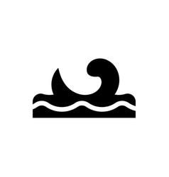 Ocean waves icon vector
