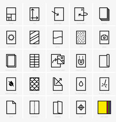 paper properties icons vector image