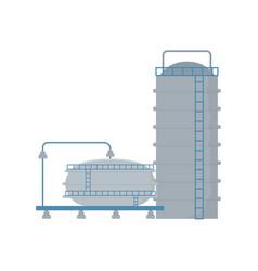 Platform refinery plant tanks pipeline fracking vector