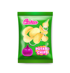 potato chips onion package ads vector image