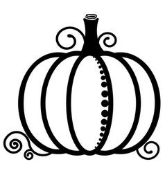 pumpkin black and white image vegetables vector image