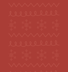 red background snowflakes figures celebration vector image