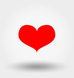 red heart icon flat vector image