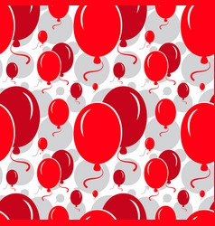 red party balloon pattern on white background vector image
