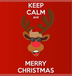 Reindeer for christmas layoutdesign cover modern vector
