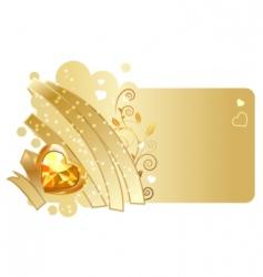 Ribbon and jewel design vector