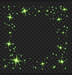 round green glow light effect stars bursts with vector image