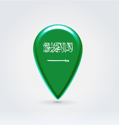 Saudi Arabian icon point for map vector