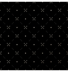 Seamless gold pattern with crossed arrows vector