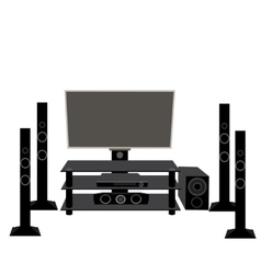 Set of HI-FI consumer electronics TV and audio vector