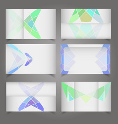 set of six business cards separated templates vector image