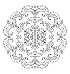 Snow flake in entangle style paper cutout mandala vector